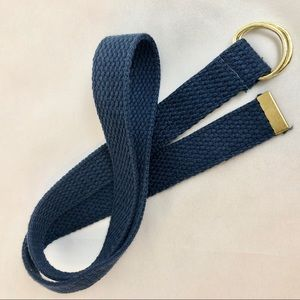 Other - Youth Blue Cloth Belt with Gold Tone Hardware